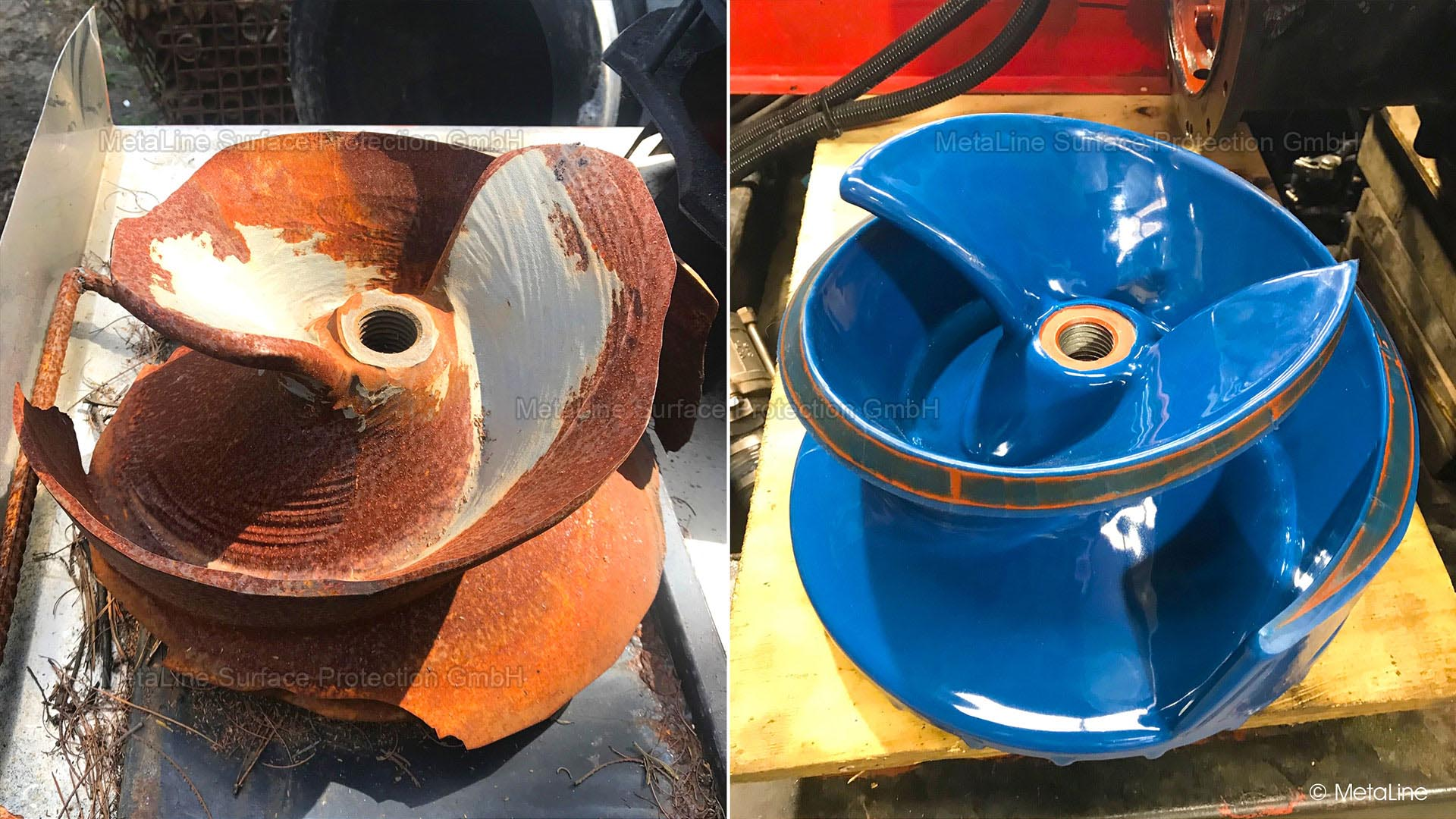 MetaLine | repair compounds to maintain pump impellers