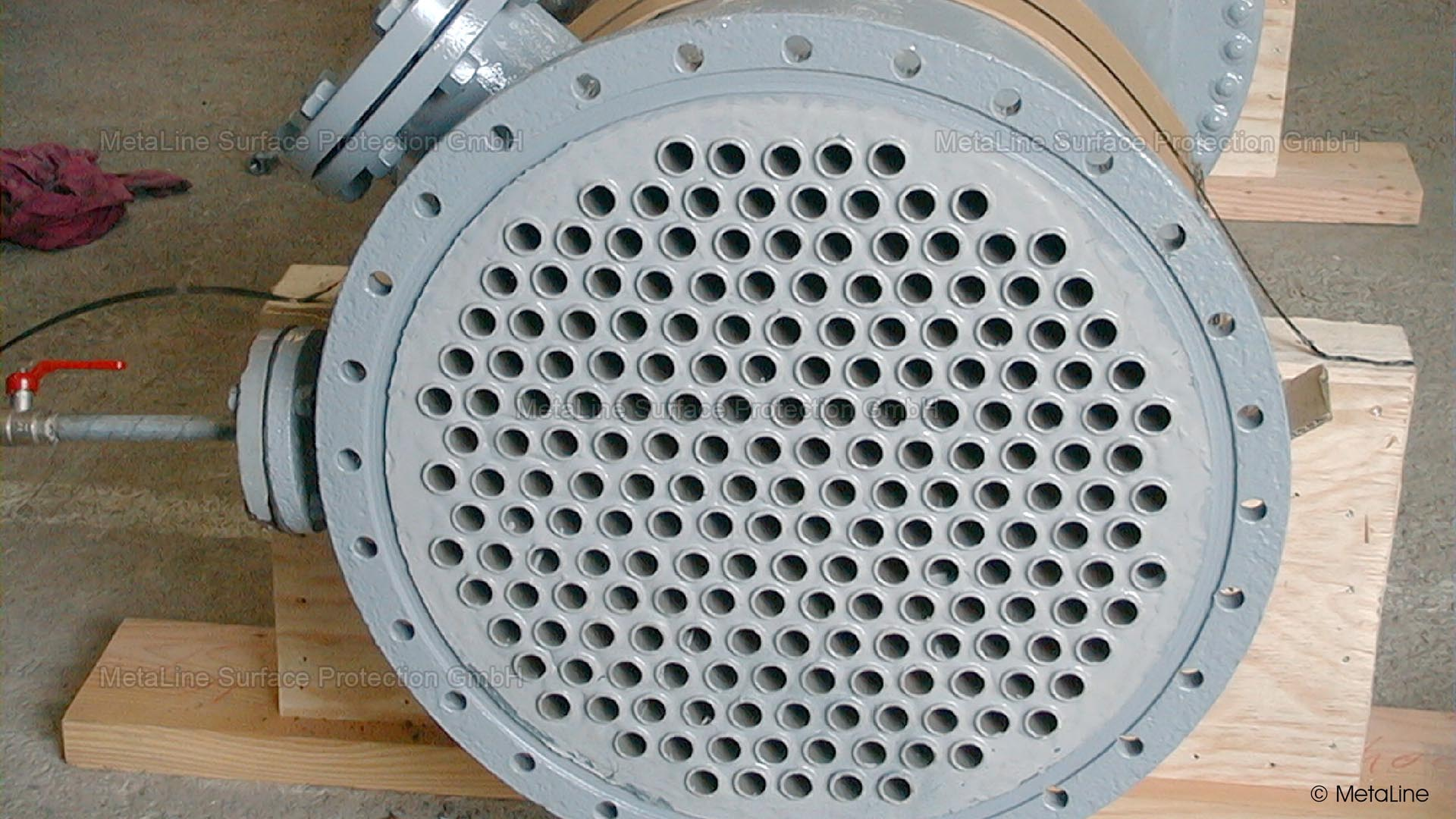 <!-- START: ConditionalContent --> heat exchangers, shell and tube heat exchangers, head plates, end plates, leaking, leaks, chemical attack, wear, erosion, corrosion <!-- END: ConditionalContent -->   <!-- START: ConditionalContent --><!-- END: ConditionalContent -->   <!-- START: ConditionalContent --><!-- END: ConditionalContent --> <!-- START: ConditionalContent --><!-- END: ConditionalContent -->